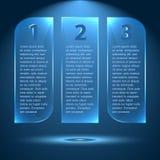 Αφηρημένες στιλπνές και επιλογές πυράκτωσης, βήματα 1 2 3 ελεύθερη απεικόνιση δικαιώματος