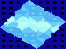 Αφηρημένες τετραγωνικές και γεωμετρικές μορφές τριγώνων σημείων των αριθμών στοκ εικόνα με δικαίωμα ελεύθερης χρήσης