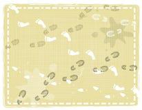 Αφηρημένες τυπωμένες ύλες ποδιών διανυσματική απεικόνιση