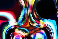 Αφηρημένες φωσφορίζουσες κόκκινες μπλε ρευστές γραμμές, σύσταση, υπνωτικό θολωμένο δημιουργικό σχέδιο Στοκ Εικόνες