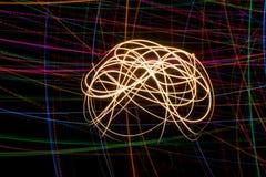 Αφηρημένες φωτογραφίες του ελαφριού υποβάθρου ζωγραφικής δράσης στοκ φωτογραφία
