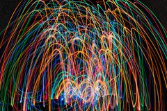 Αφηρημένες φωτογραφίες του ελαφριού υποβάθρου ζωγραφικής δράσης στοκ εικόνα