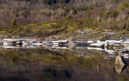 Αφηρημένες χειμερινές αντανακλάσεις Στοκ Φωτογραφίες
