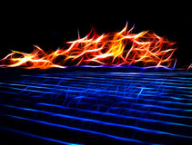 Αφηρημένες χορεύοντας φλόγες Στοκ Εικόνες