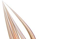 αφηρημένες χρυσές σπονδυλικές στήλες Στοκ φωτογραφία με δικαίωμα ελεύθερης χρήσης