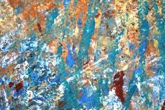 Αφηρημένες χρωματισμένες Expressionist συστάσεις χρωμάτων υποβάθρου στοκ εικόνα