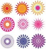 αφηρημένες floral διακοσμήσε&iota διανυσματική απεικόνιση