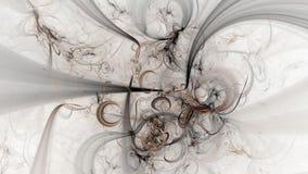 Αφηρημένες fractal καφετιές γραμμές πλήρες HD ελεύθερη απεικόνιση δικαιώματος