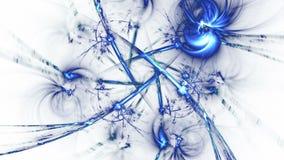 Αφηρημένες fractal μπλε γραμμές πλήρες HD ελεύθερη απεικόνιση δικαιώματος