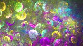 Αφηρημένες fractal χρωματισμένες γραμμές πλήρες HD απεικόνιση αποθεμάτων