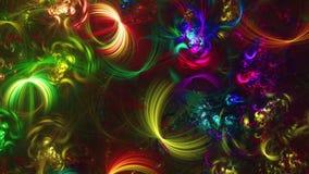 Αφηρημένες fractal χρωματισμένες γραμμές πλήρες HD διανυσματική απεικόνιση