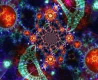 αφηρημένες fractals ανασκόπησης μ διανυσματική απεικόνιση