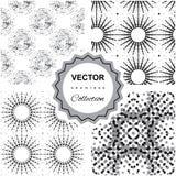 Αφηρημένη άνευ ραφής συλλογή σχεδίων Doodle Στοκ εικόνες με δικαίωμα ελεύθερης χρήσης