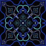 Αφηρημένη άνευ ραφής χρωματισμένη σύσταση κεραμιδιών Στοκ Εικόνες