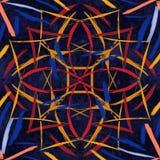 Αφηρημένη άνευ ραφής χρωματισμένη σύσταση κεραμιδιών Στοκ εικόνα με δικαίωμα ελεύθερης χρήσης