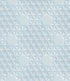 Αφηρημένη άσπρη άνευ ραφής σύγχρονη χαμηλή πολυ τρισδιάστατη απόδοση υποβάθρου Στοκ Φωτογραφίες