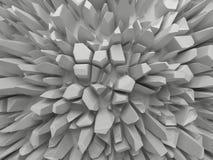 Αφηρημένη άσπρη εδροτομημένη πολύτιμους λίθους ανασκόπηση δομών Στοκ εικόνα με δικαίωμα ελεύθερης χρήσης