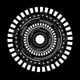 Αφηρημένη άσπρη διανυσματική απεικόνιση κύκλων Στοκ Φωτογραφίες
