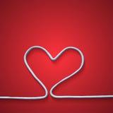 Αφηρημένη άσπρη καρδιά απεικόνιση αποθεμάτων