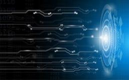 Αφηρημένη έννοια, τεχνολογία και επιστήμη υποβάθρου με το ηλεκτρικό κύκλωμα στο μπλε δίκτυο ελαφριών, ψηφιακών συστημάτων στο μέλ απεικόνιση αποθεμάτων