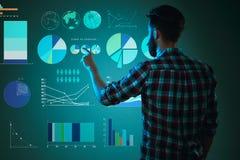Αφηρημένη έννοια της επιχειρησιακών επιτυχίας, της αύξησης και της παγκοσμιοποίησης Στοκ Εικόνες