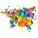 Αφηρημένη ήπειρος της Ευρασίας από τα τρίγωνα Ύφος Origami polygonal σχέδιο διανυσματική απεικόνιση