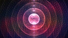 Αφηρημένη αίσθηση του γραφικού σχεδίου επιστήμης Αφηρημένη αίσθηση του γραφικού σχεδίου επιστήμης αφηρημένο διάνυσμα σφαιρών Στοκ Φωτογραφίες