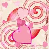αφηρημένη αγάπη καρδιών ανασκόπησης ελεύθερη απεικόνιση δικαιώματος