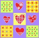 αφηρημένη αγάπη καρδιών ανασ διανυσματική απεικόνιση