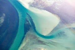 Αφηρημένη αεροφωτογραφία του ωκεανού στοκ φωτογραφίες