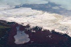Αφηρημένη αεροφωτογραφία του ωκεανού στοκ εικόνα