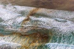 Αφηρημένη αεροφωτογραφία του ωκεανού στοκ φωτογραφίες με δικαίωμα ελεύθερης χρήσης