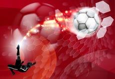 Αφηρημένη αθλητική ανασκόπηση ποδοσφαίρου Στοκ φωτογραφία με δικαίωμα ελεύθερης χρήσης