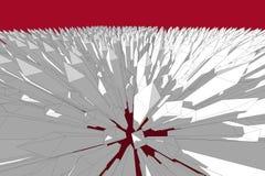 Αφηρημένη αιχμηρή απεικόνιση άποψης ματιών πουλιών Στοκ φωτογραφία με δικαίωμα ελεύθερης χρήσης