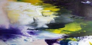 Αφηρημένη ακρυλική σύγχρονη έκρηξη σύγχρονης τέχνης ywhite στοκ φωτογραφία με δικαίωμα ελεύθερης χρήσης
