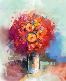 Αφηρημένη ακόμα ζωή μια ανθοδέσμη των λουλουδιών ελεύθερη απεικόνιση δικαιώματος