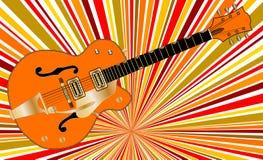 Αφηρημένη αναδρομική μουσική κιθάρα της Jazz Στοκ φωτογραφία με δικαίωμα ελεύθερης χρήσης
