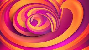 αφηρημένη ανασκόπηση γεωμ&epsil Ιώδεις και πορτοκαλιές σπείρες Δυναμικές μορφές στροβίλου επίδρασης απεικόνιση αποθεμάτων
