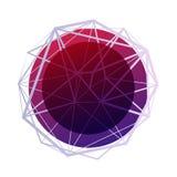 αφηρημένη ανασκόπηση γεωμ&epsil Polygonal υπόβαθρο πλέγματος Wireframe Αφηρημένη μορφή με τις συνδεδεμένες γραμμές Στοκ εικόνες με δικαίωμα ελεύθερης χρήσης