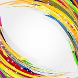 Αφηρημένη ανασκόπηση γραμμών κύκλων για το κείμενό σας. Διανυσματική απεικόνιση