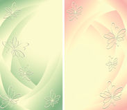 Αφηρημένη ανασκόπηση δύο με τα λουλούδια Στοκ εικόνα με δικαίωμα ελεύθερης χρήσης