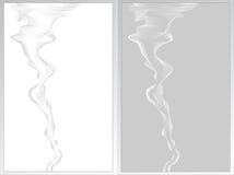 Αφηρημένη ανασκόπηση δύο με το γκρι και το λευκό καπνού Στοκ Εικόνες
