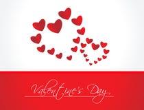 Αφηρημένη ανασκόπηση ημέρας βαλεντίνων με τις καρδιές ελεύθερη απεικόνιση δικαιώματος