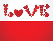 Αφηρημένη ανασκόπηση ημέρας βαλεντίνων με τις καρδιές διανυσματική απεικόνιση