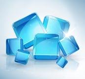 Αφηρημένη ανασκόπηση: κύβοι πάγου. Στοκ εικόνα με δικαίωμα ελεύθερης χρήσης