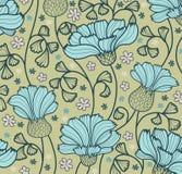 Αφηρημένη ανασκόπηση λουλουδιών Διανυσματική απεικόνιση