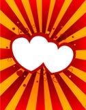 Αφηρημένη ανασκόπηση με τις μορφές καρδιών Στοκ φωτογραφία με δικαίωμα ελεύθερης χρήσης