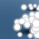 Αφηρημένη ανασκόπηση με τους κύκλους διανυσματική απεικόνιση
