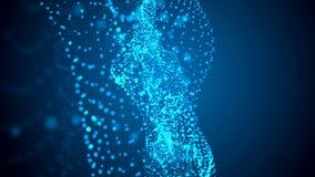 αφηρημένη ανασκόπηση Μπλε ελαφριά μόρια στην οργανική κίνηση απόθεμα βίντεο