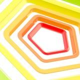 αφηρημένη ανασκόπηση που γίνεται τα Πεντάγωνα Στοκ εικόνες με δικαίωμα ελεύθερης χρήσης
